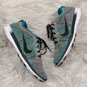 Nike Free RN Flyknit Woven Running Sneakers 10